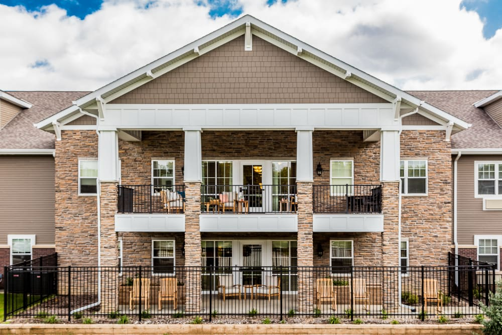 Fenced, 2 story community at Edencrest at Beaverdale in Des Moines, Iowa