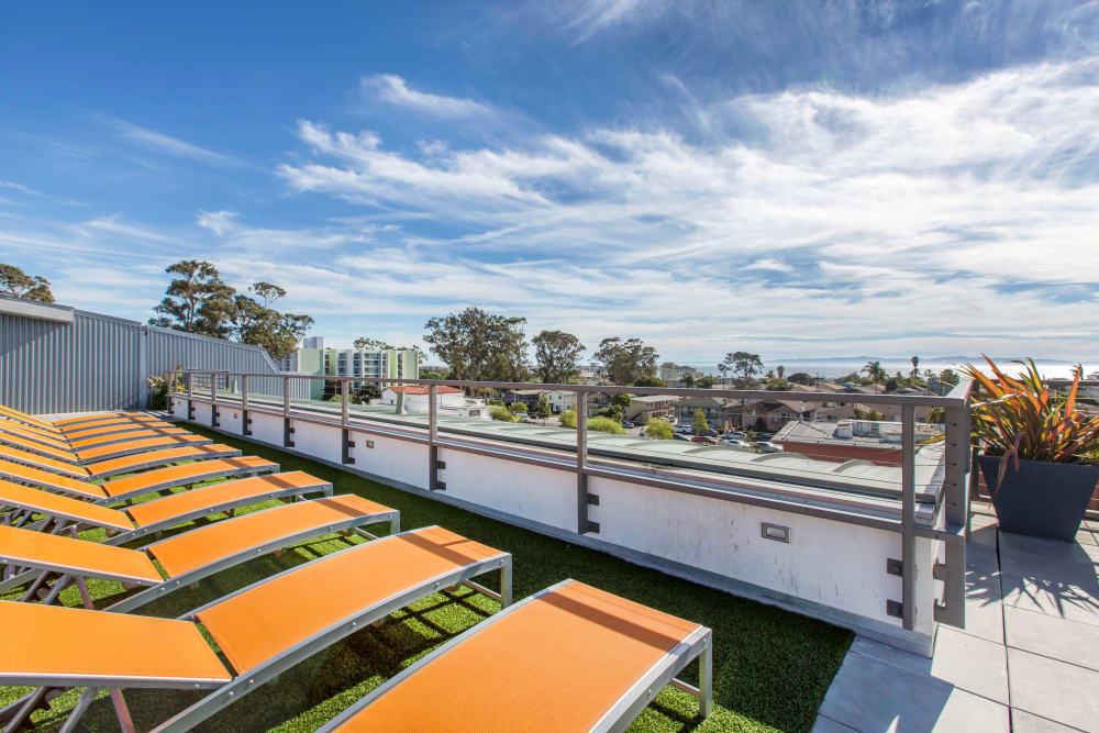 Rooftop sundeck at ICON in Isla Vista, California