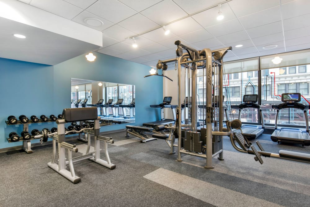 Fitness center at INFINITE in Chicago, Illinois