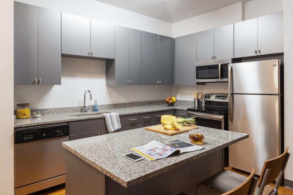 Sleek, modern kitchen at Onyx in Tallahassee, Florida