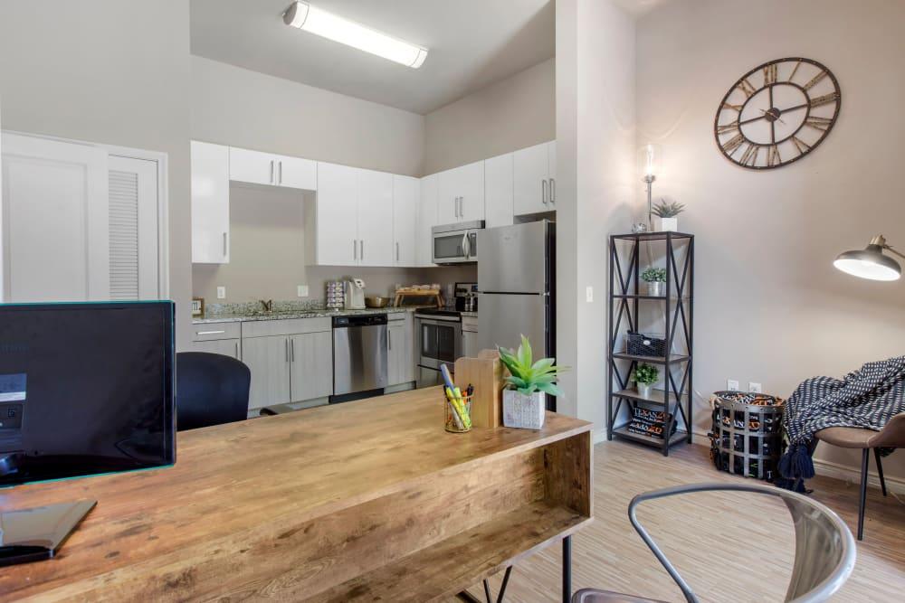 Community kitchen at Texan 26 in Austin, Texas