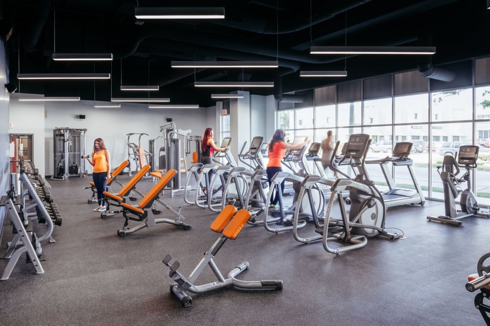 State-of-the-art fitness center at West Quad in Champaign, Illinois