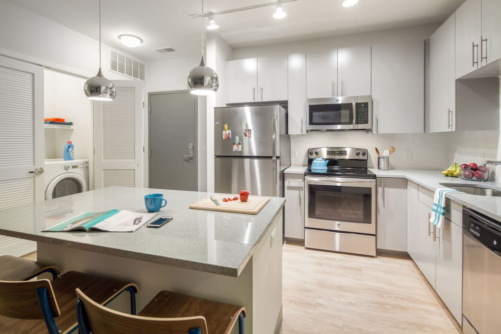 Spacious kitchen at West Quad in Champaign, Illinois