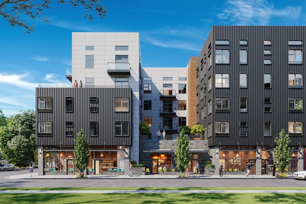 Rendering of our community from across the street at Ascend in Portland, Oregon