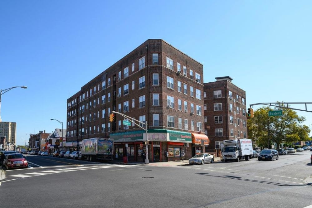 Exterior of Gregory Plaza in Passaic, New Jersey