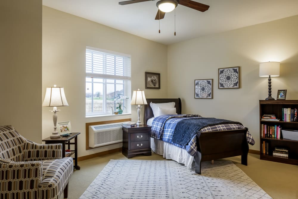 Studio senior apartment inside Edencrest at Siena Hills in Ankeny, Iowa