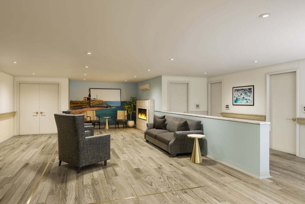 Common Area Model Rendering at Esplanade of Woodmere Senior Living