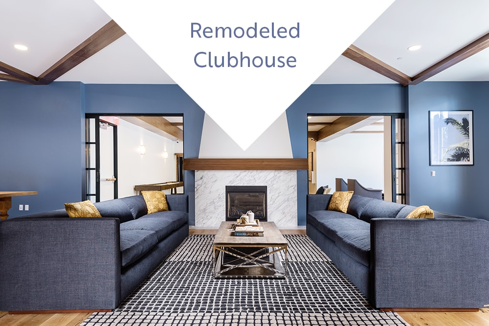 Expansive clubhouse lounge at Mission Hills in Camarillo, California