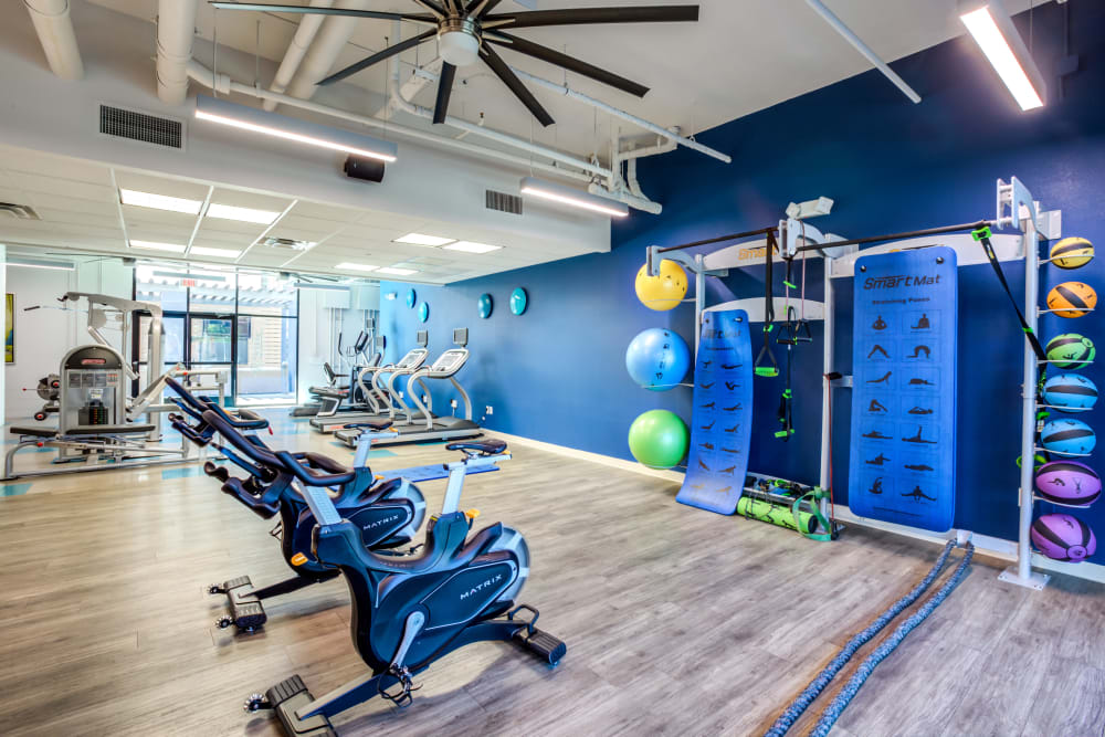 Fitness center at The Fleetwood in Tempe, Arizona