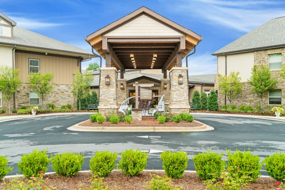 Outside of building  at Celebration Village Forsyth in Suwanee, Georgia