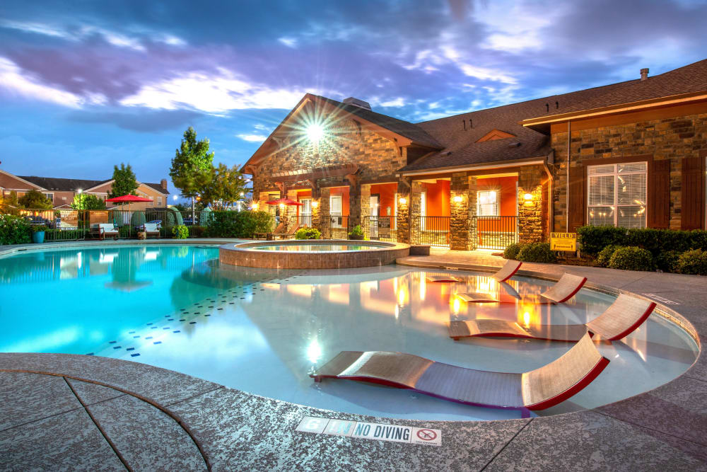 Spacious pool at Olympus Katy Ranch in Katy, TX