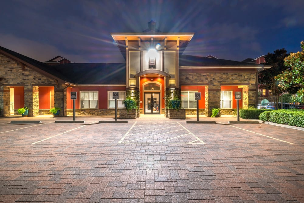 Clubhouse exterior at Olympus Katy Ranch in Katy, Texas