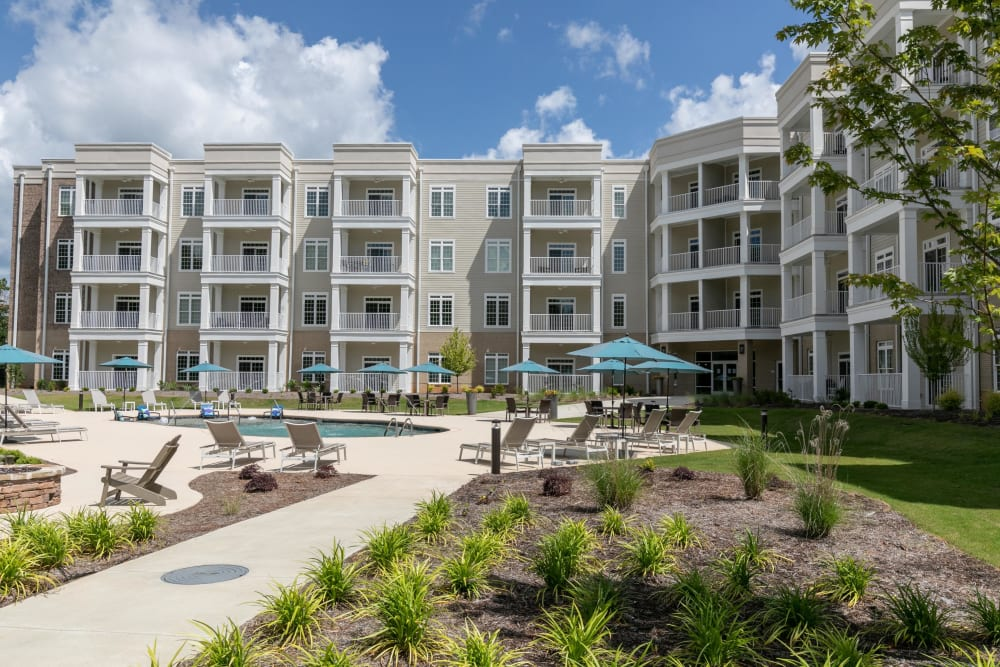Professionally maintained landscaping throughout the community at The Station at River Crossing in Macon, Georgia