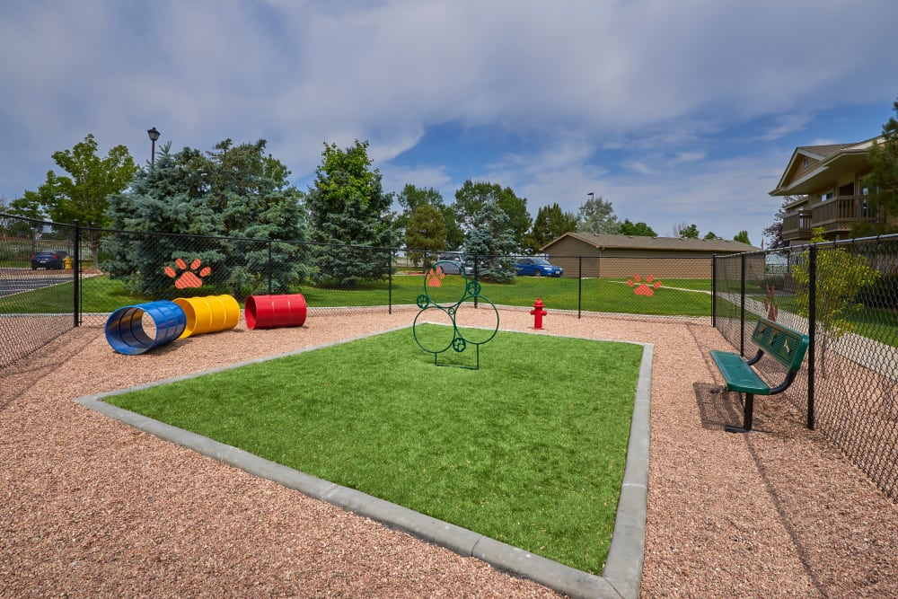 Onsite Dog Park at Crossroads at City Center Apartments in Aurora, Colorado
