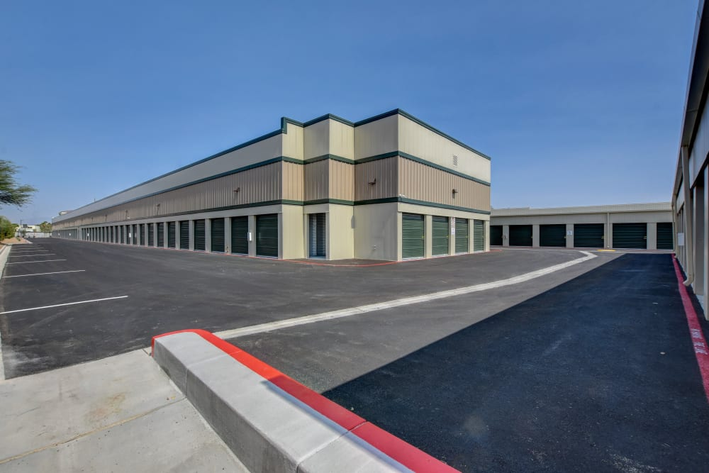 Drive up units at Towne Storage in Las Vegas, Nevada
