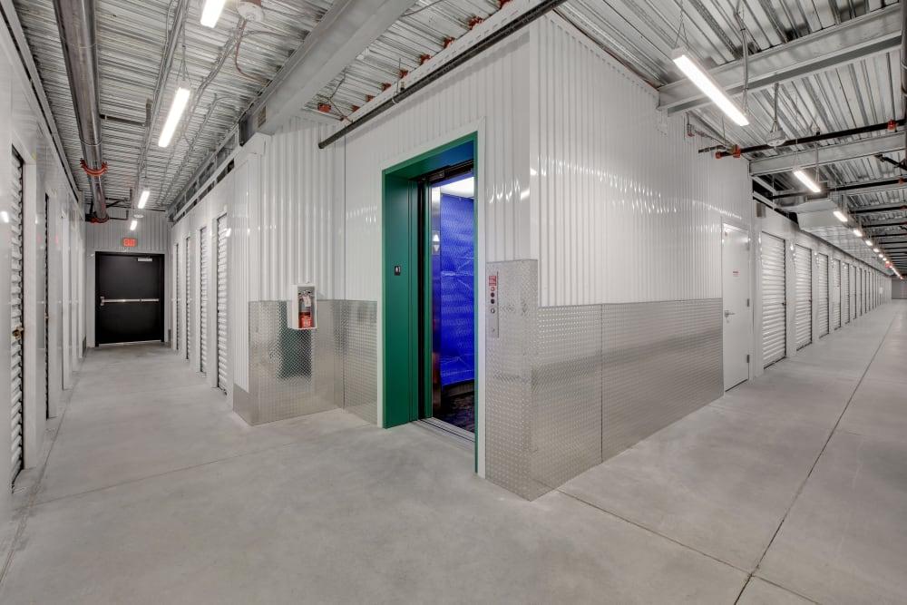 Hallways of interior units at Towne Storage in Las Vegas, Nevada
