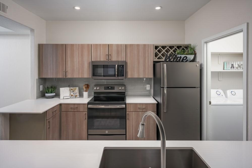Sleek kitchen at The Sterling in Gilbert, Arizona