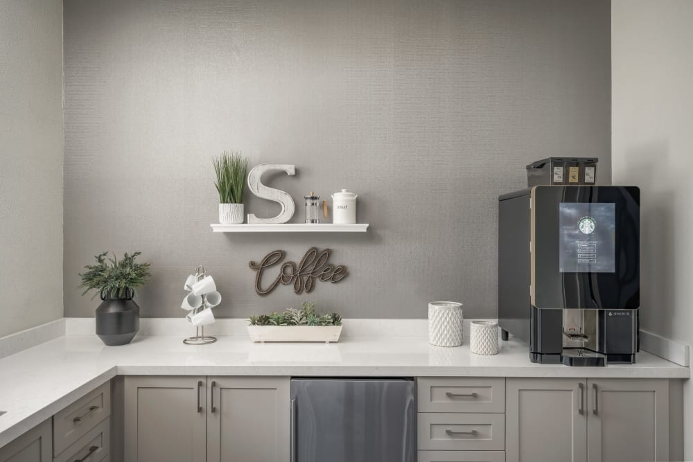 Common coffee area at The Sterling in Gilbert, Arizona