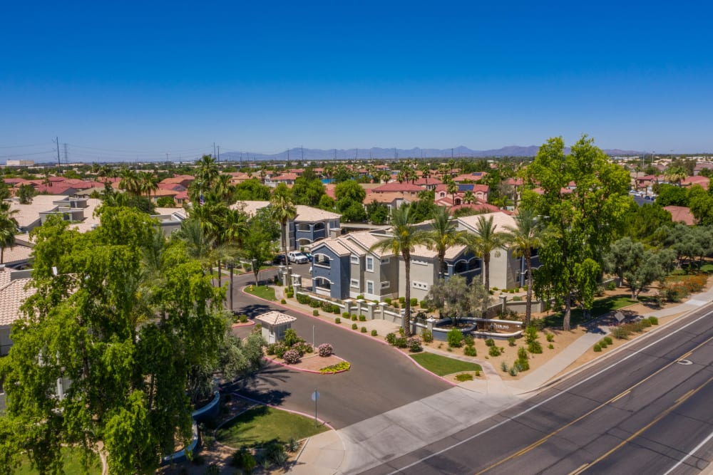 Aerial view of The Sterling in Gilbert, Arizona