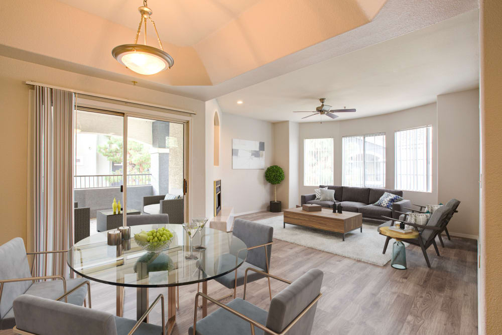 Large living room model at The Sterling in Gilbert, Arizona