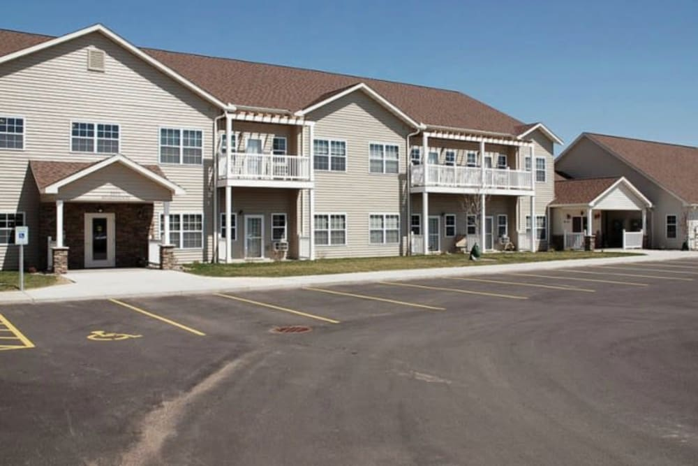 Assisted Living apartments at Milestone Senior Living in Eau Claire, Wisconsin.