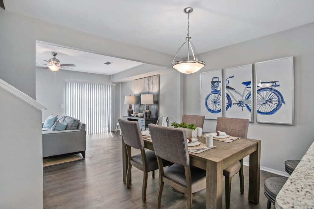 Dining area in a model home at The Coast of Naples Florida in Naples, Florida