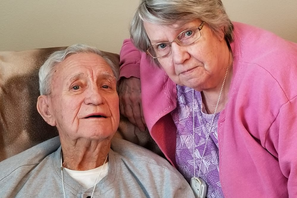 A couple at Emery Place in Robins, Iowa
