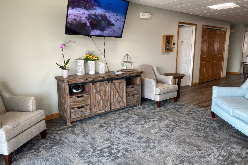 Great common areas at Garden View Place in Monona, Iowa