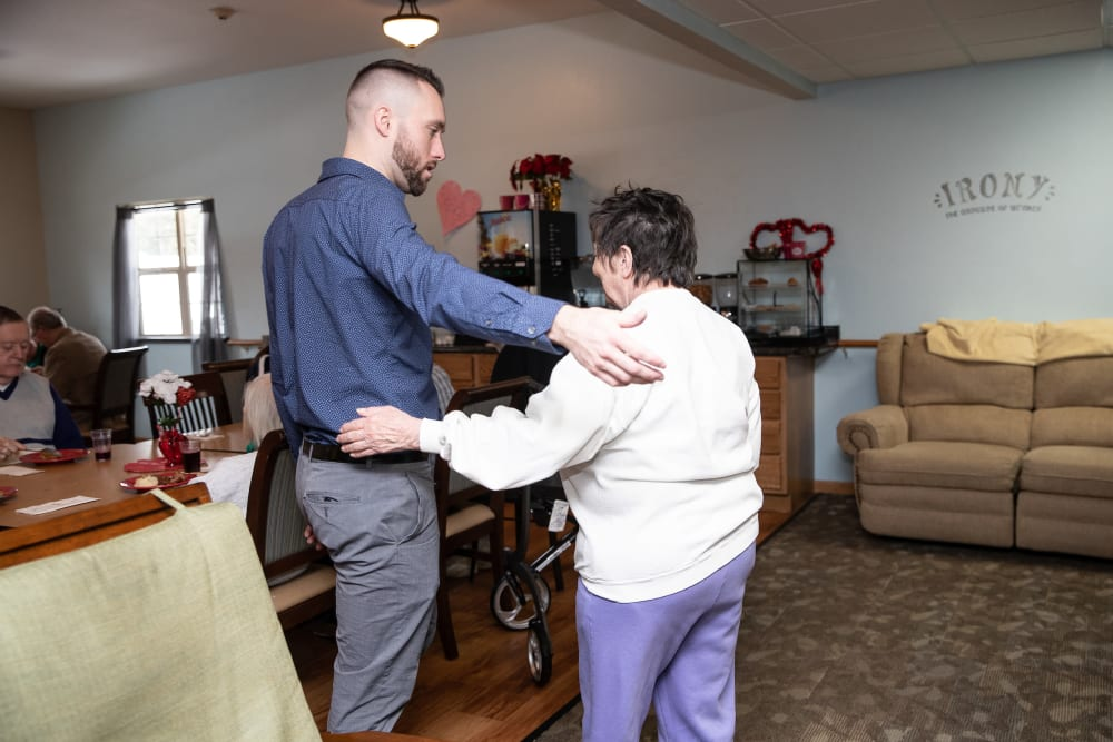 Son and Resident at Parker Place in Parkersburg, Iowa