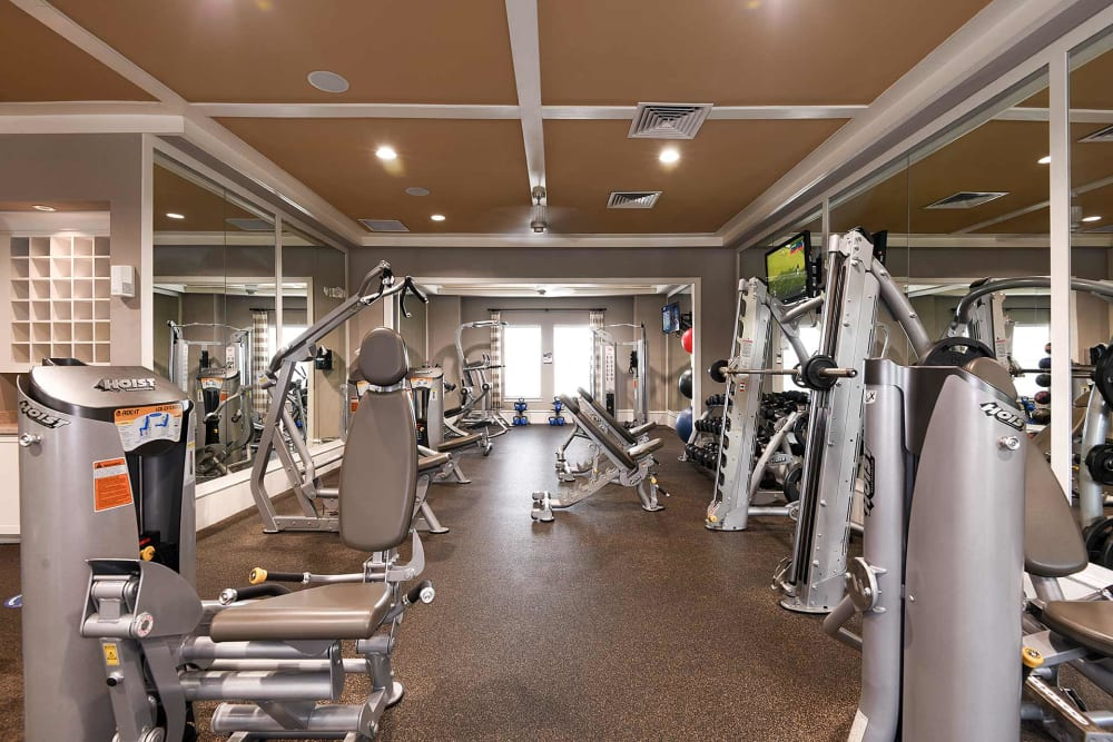 Fitness center at Terraces at Town Center in Jacksonville, Florida