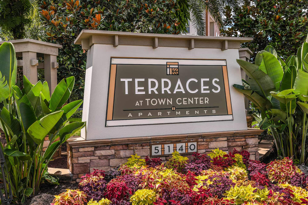 Front sign at Terraces at Town Center in Jacksonville, Florida