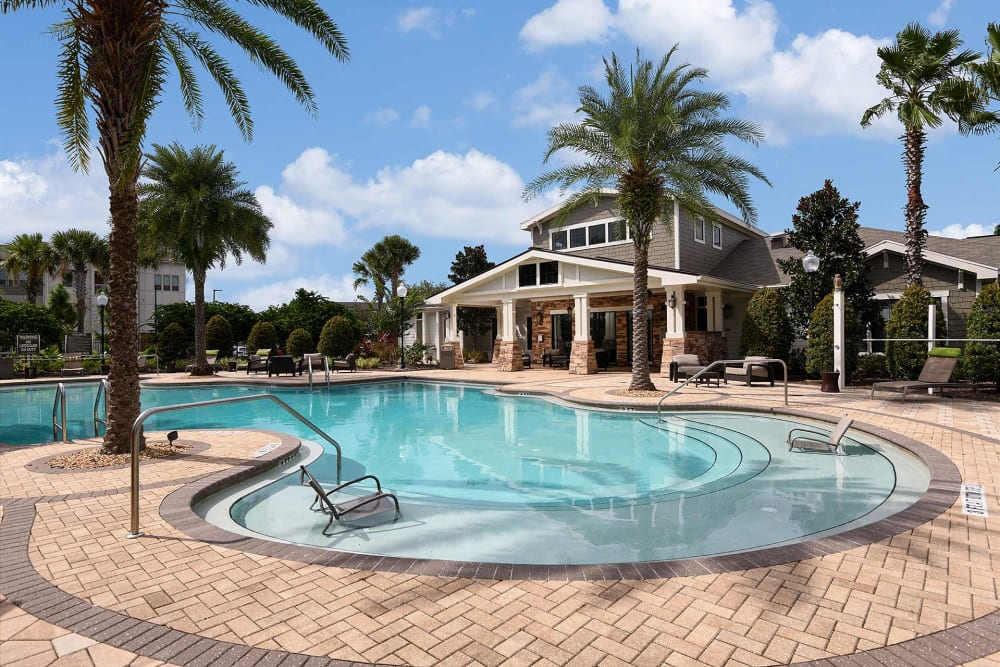Community pool at Terraces at Town Center in Jacksonville, Florida
