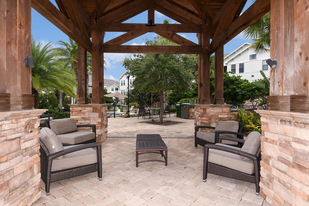 Outdoor lounge at Terraces at Town Center in Jacksonville, Florida