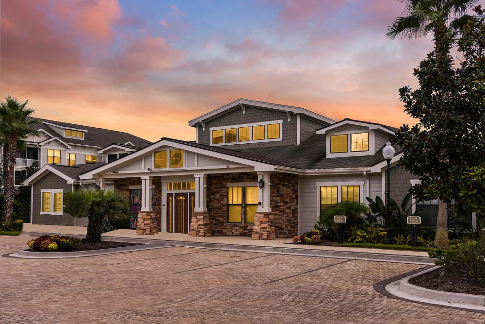 Front view of the clubhouse at Terraces at Town Center in Jacksonville, Florida