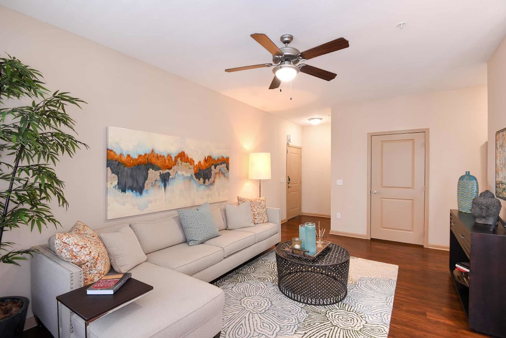 Model living room at Terraces at Town Center in Jacksonville, Florida