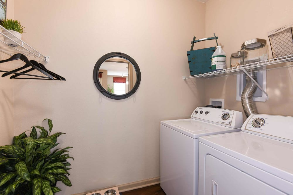 Model laundry units at Terraces at Town Center in Jacksonville, Florida