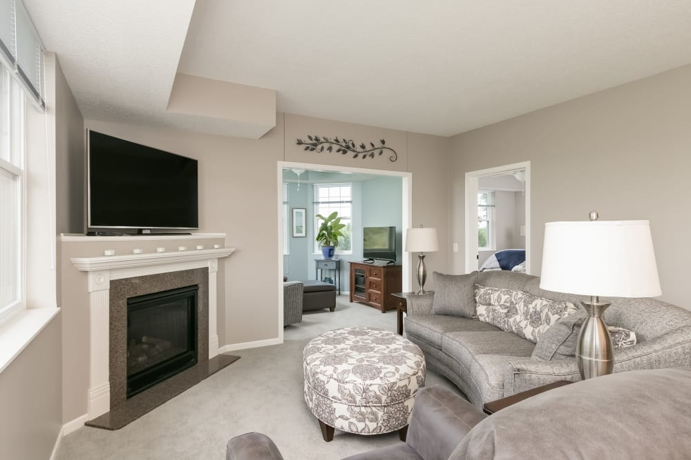 Living room at Applewood Pointe Champlin in Champlin, Minnesota.