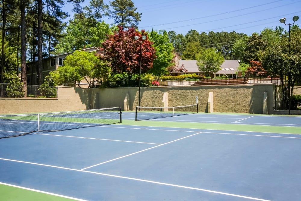 Onsite tennis courts at Park at Vinings in Smyrna, Georgia