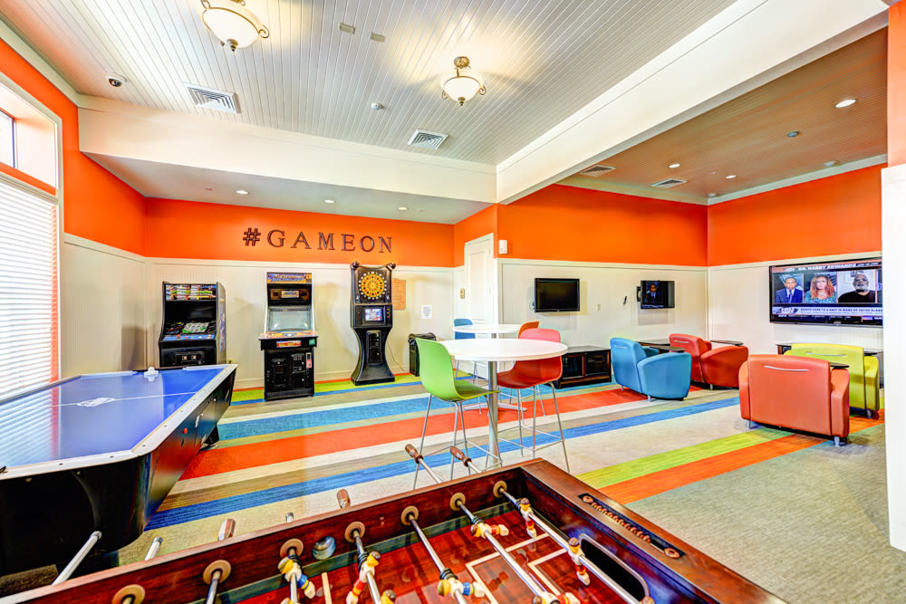 Gaming and recreation room at Hacienda Club