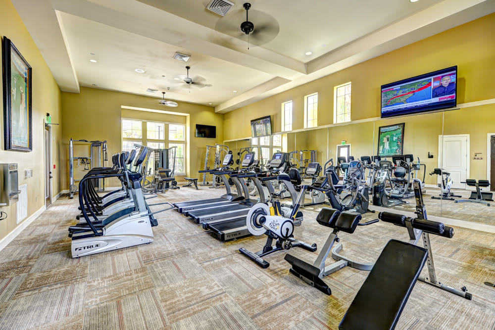 Fitness center at Hacienda Club