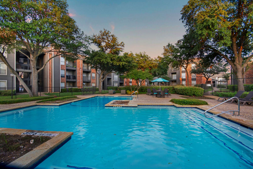 Spacious pool to relax by at The Madison in Dallas, Texas
