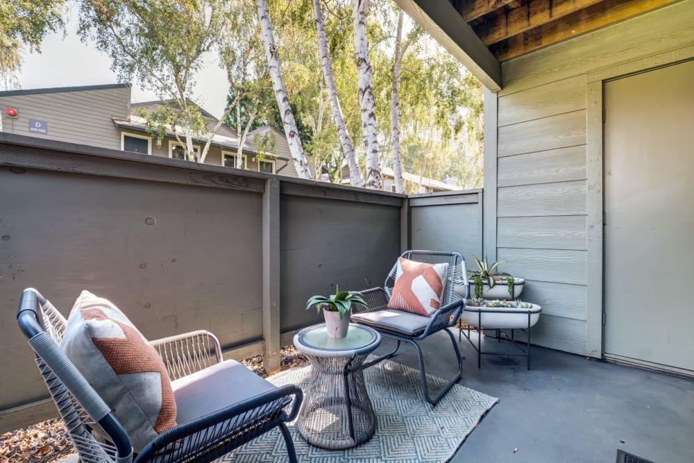 Private outside patio space at Sofi Union City in Union City, California