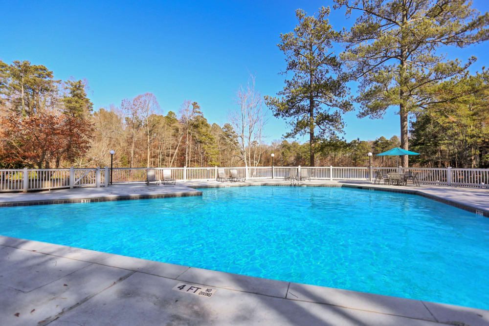 Large resort-style swimming pool at Reserve at Peachtree Corners in Norcross, Georgia
