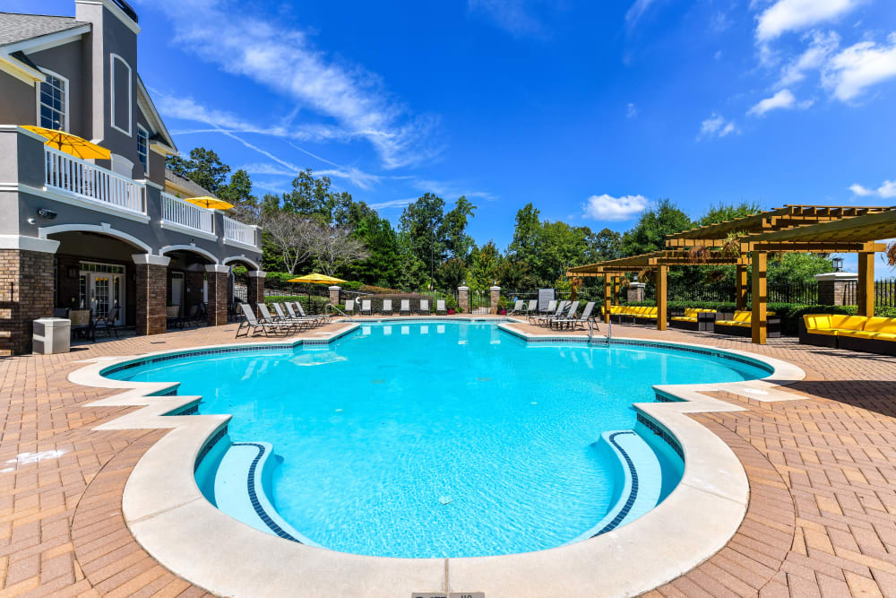Resort-style swimming pool at 860 South in Stockbridge, Georgia
