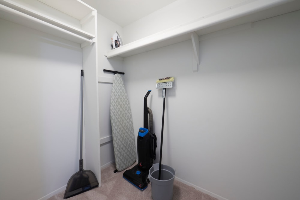 Walk in storage closet at Fairmont Park Apartments in Farmington/Farmington Hills, Michigan