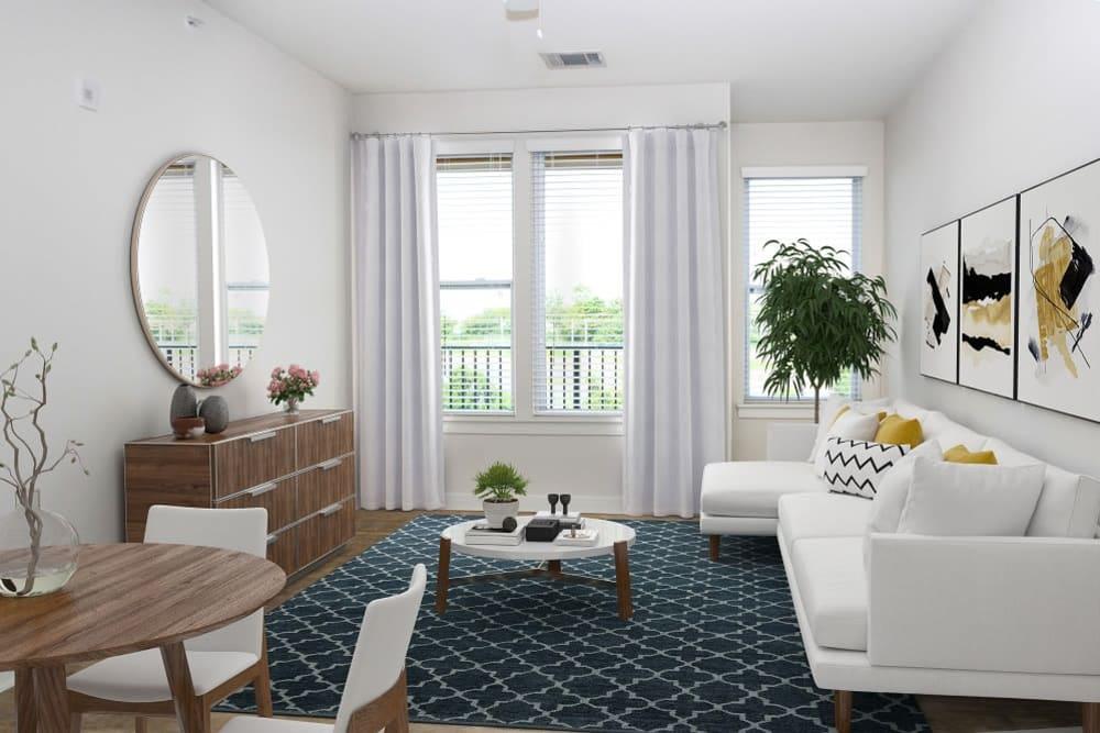 Spacious Living Room at 300 Optimist Park in Charlotte, North Carolina