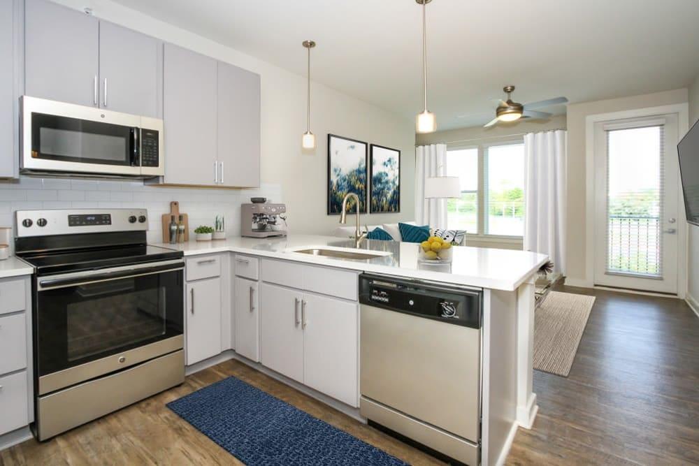 Model kitchen in 300 Optimist Park in Charlotte, North Carolina