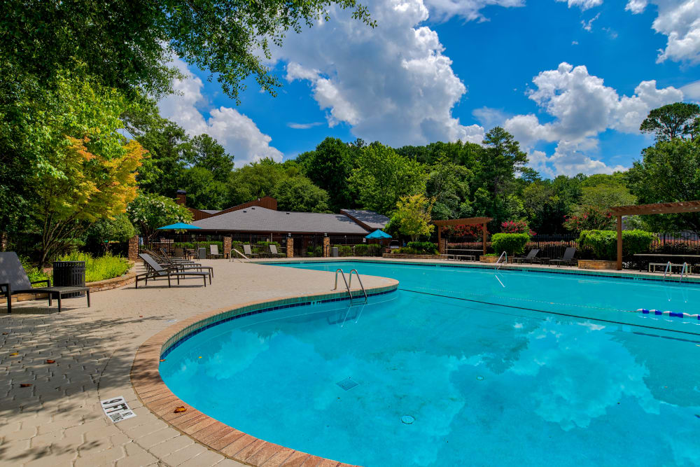 Swimming pool at The Lodge on the Chattahoochee Apartments