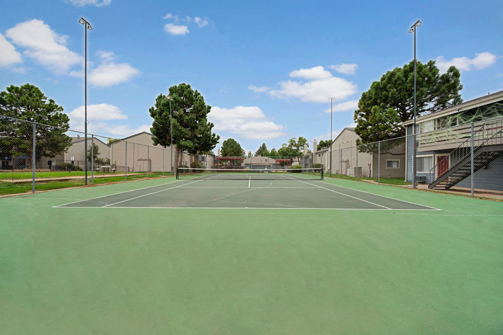 Tennis courts at Hampden Heights Apartments in Denver, Colorado