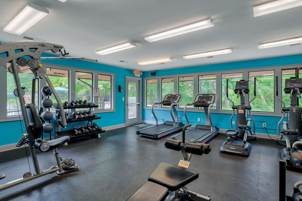 Fitness Center at The Lodge on the Chattahoochee Apartments